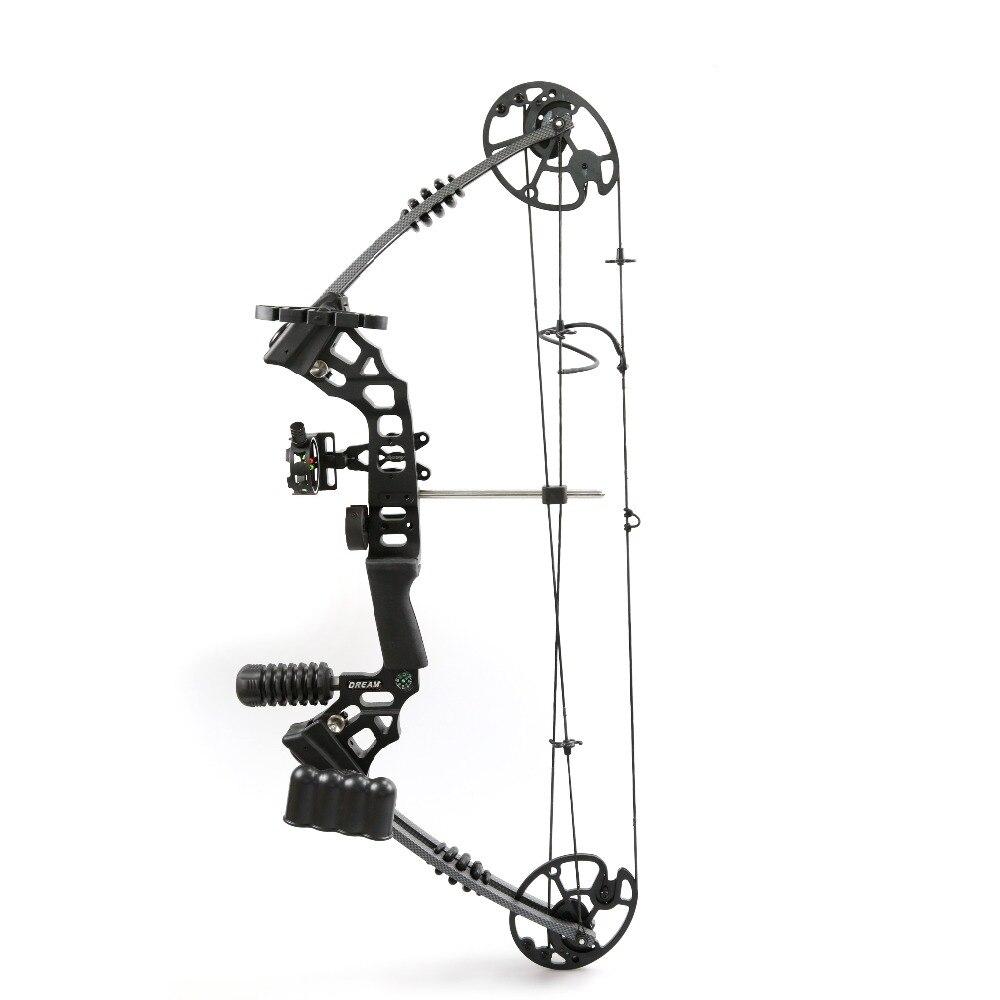 Arco compuesto de aleación de aluminio tirador a mano izquierda/derecha con 20-70 Lbs peso de tiro para caza de Tiro con Arco humano adulto