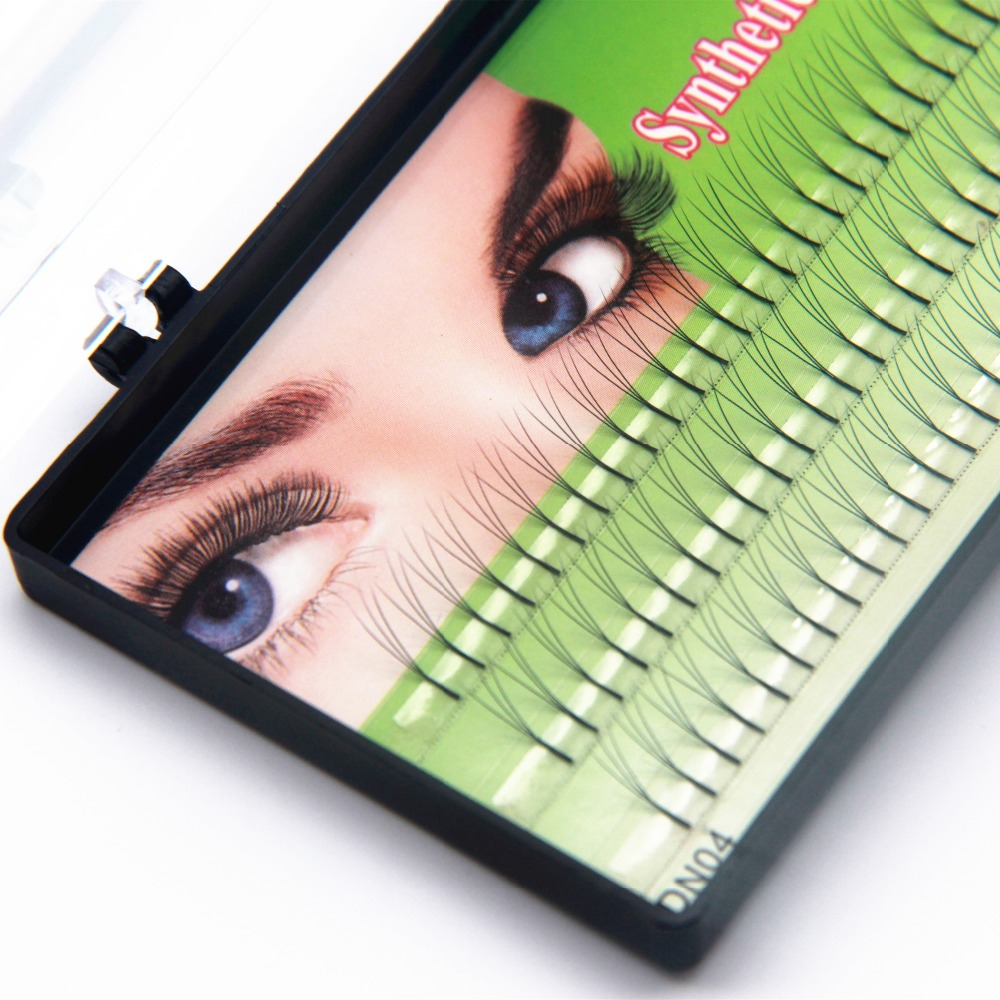 NAVINA 8mm10mm12mm Alternativ 3 Flairs False Eyelashes 102 D Lash Naturlig Lång 3D Svart Individuell Fake Eyelash Extension Kit