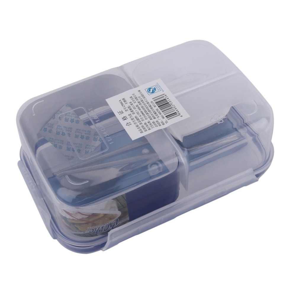 1000 مللي البلاستيك الحديثة الصديقة للبيئة في الهواء الطلق المحمولة الميكروويف الغداء أواني الطعام مربع مع وعاء الحساء حاويات طعام