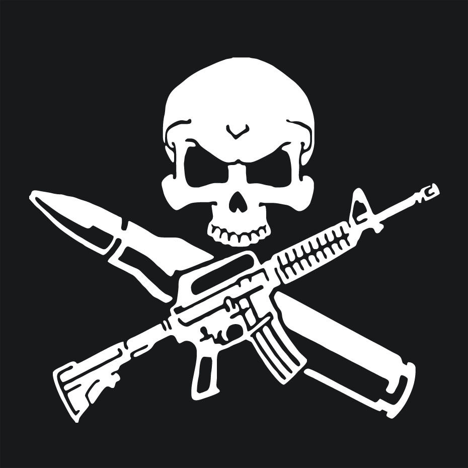 Cool Skull Logos With Guns Rifle Skull Bul...