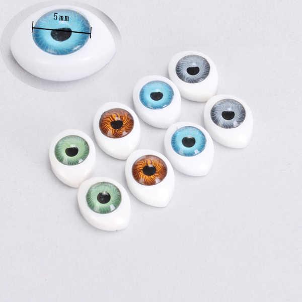 Новое поступление, 8 шт., яркие овальные прозрачные пластиковые глаза для безопасности, для игрушек, куклы, маска, DIY 5 мм, аксессуары для кукол, для рукоделия, глаз, шар