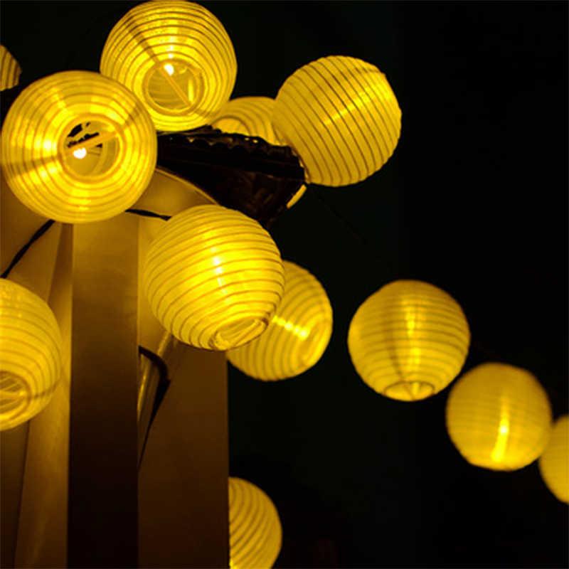 Đèn LED năng lượng mặt trời Đèn Lồng Dây Đèn Bóng 20 ĐÈN LED Năng Lượng Mặt Trời Vòng Hoa Nhà Ngoài Trời Cổ Tích Đèn Giáng Sinh Chiếu Sáng cho Sân Vườn Trang Trí