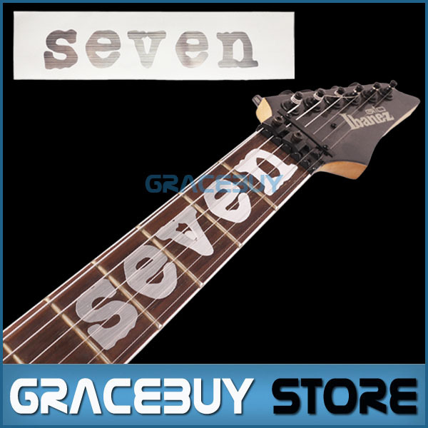 SEVEN Guitar Fretboard Inlay Sticker Neck Fret Markers Silver Mick Thomson MTM1 Stikers For Guitarra guitar or bass tree of life fretboard silver color inlay ultra thin sticker