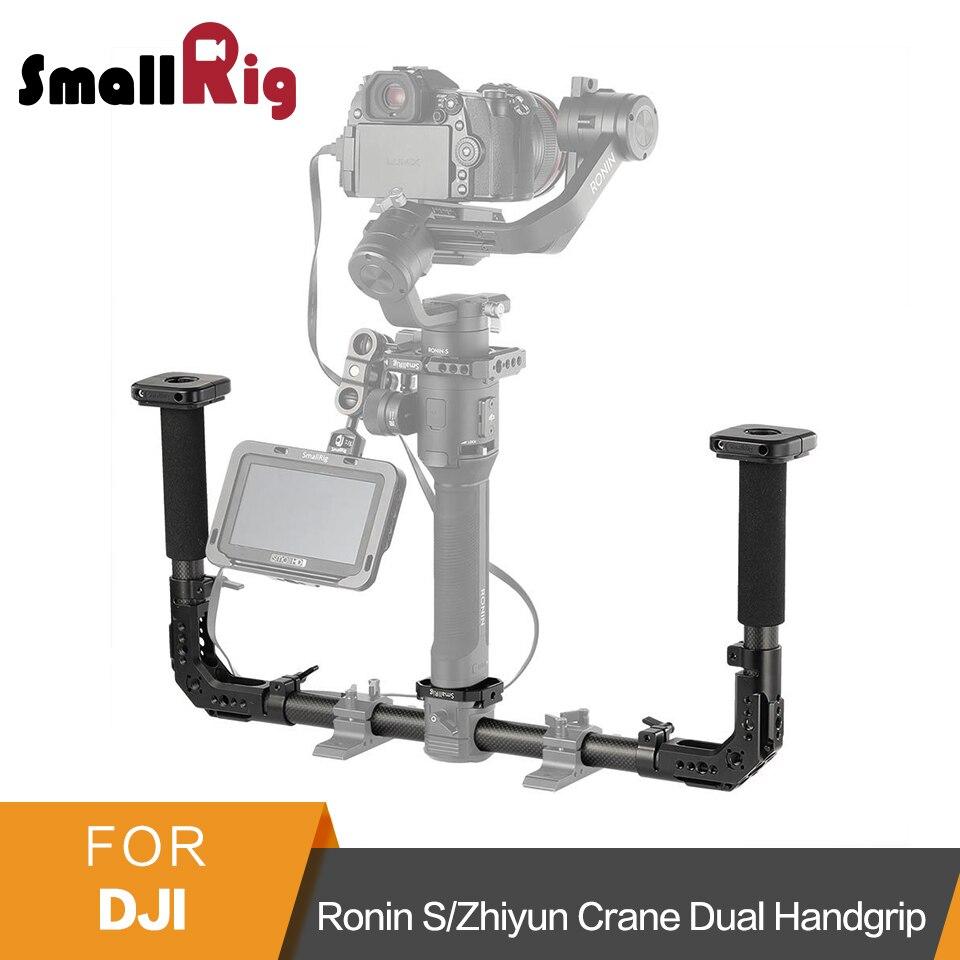 SmallRig Double Poignée Avec 25mm collier de serrage pour barre L'otan Rails pour DJI Ronin S/Zhiyun Grue Série De Poche Cardan- 2210