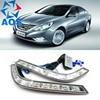 2PCs Set Freeshipping LED Car DRL Daytime Running Lights DRL Light For Hyundai Sonata 8 2010