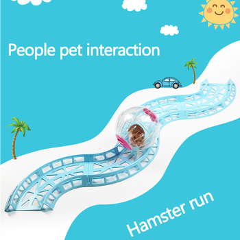 2018New Free toys Hamster running ball track Toy Chinchilla Accessories small pet Runway toys Hamsters and Hedgehog Runway