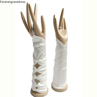 Forevergracedress Real Photo White Ivory Bridal Gloves For Wedding Bride Cheap Accessories