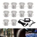 LED Deck lights kit,Stainless Steel Waterproof Outdoor Garden Yard Decoration Deck Lamp Recessed Wood Decking Stairs Light 10pcs