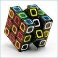 3x3x3 QiYi Mo Colmillo Ge Cuadrado Cubo Mágico Puzzle Velocidad Cubos Del Rompecabezas de Color Transparente parche De Caucho Juguetes educativos para Niños