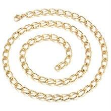 24 k chapado en oro de la vendimia collares de moda collar de cadena de oro para los hombres bijoux bisuteria joyas retro accesorios regalos 13N24K-23