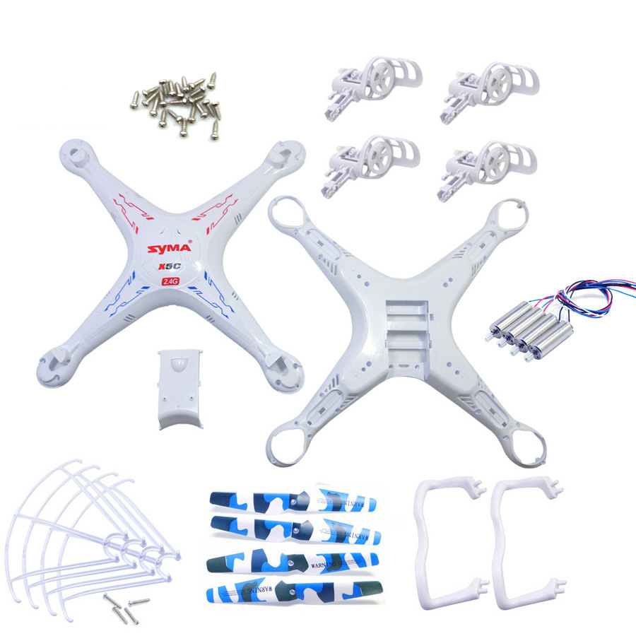 Accessories For SYMA X5C X5 Spare Parts Shell Motor Propeller Main Blade Landing Gear Kit Protection Ring Frame Drone Parts syma x5uc x5uw rc drone spare parts engines gear propeller landing gear skid protectors ring lampshade accessories