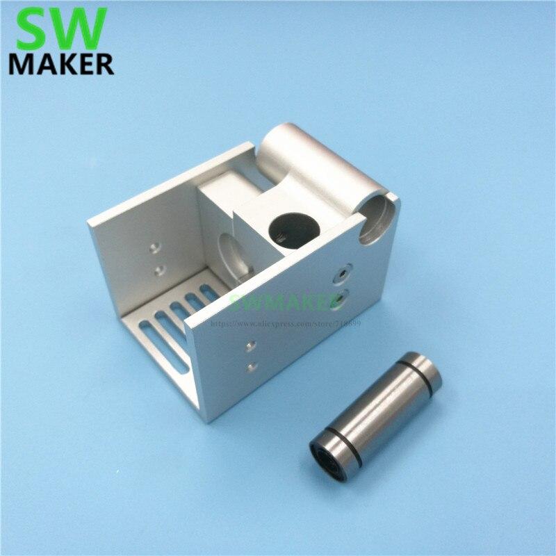 Gafas de sol... DIY Ultimaker 2 extendida UM2 montaje V6 Custom metal soporte aleación de aluminio plata
