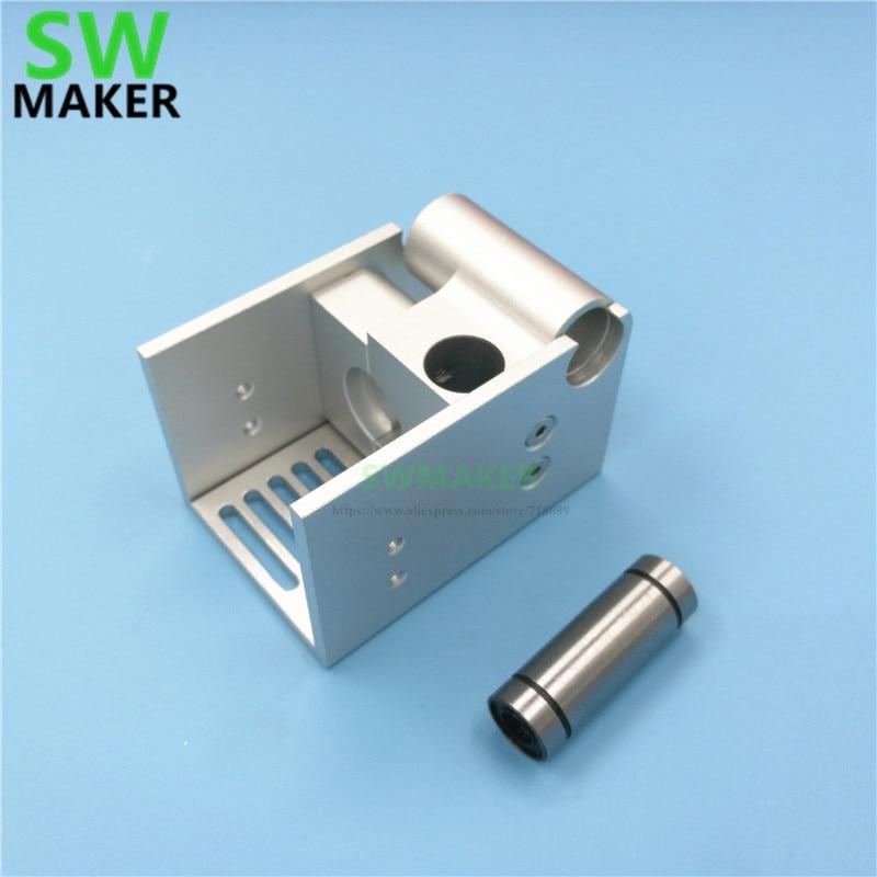 SWMAKER DIY Ultimaker 2, расширенный UM2, крепление V6, на заказ, металлический держатель, алюминиевый сплав, серебристый