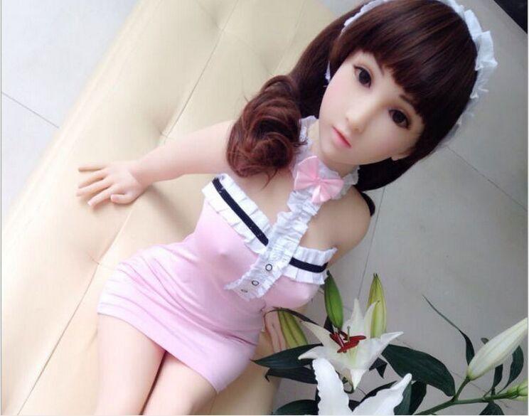 Buy Mini Size 42.5inches 108cm Japanese lifelike real silicone anime sex dolls skeleton Anal/oral/vagina sexy toys men