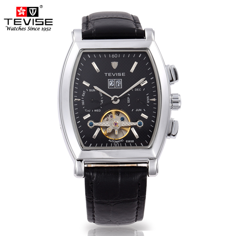 compare prices on sapphire crystal watch online shopping buy low tevise leather multi functional men s business watch men waterproof mechanical watches sapphire crystal relogio masculino