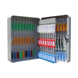 Armario con llave con 105 etiquetas, caja de Metal Bloqueable, almacenamiento de llave de seguridad montado en la pared para Gestión de Propiedad, empresa de casa, oficina y escuela