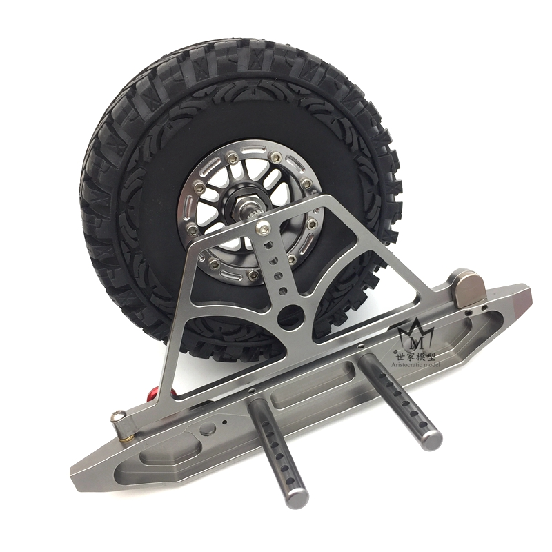 AXIAL SCX 10 scx10 climbing car metal upgrade conversion accessories bumper 90035 rear bumper spare tire