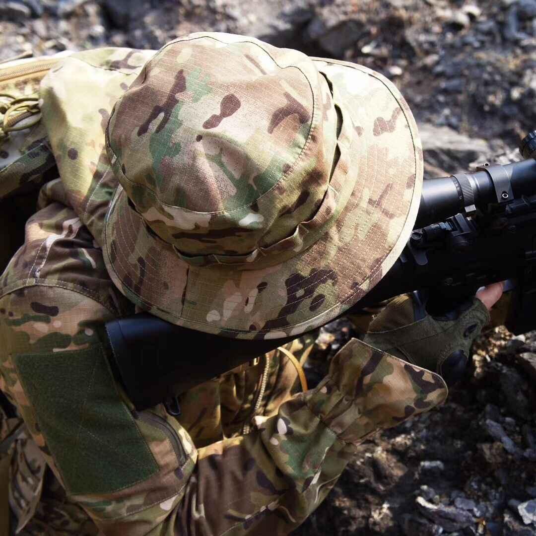 Boonie العسكرية الجيش التكتيكي للتعديل مكافحة كشط الادسنس القتال والعتاد التمويه متعددة حدبة alpie مرج terrin التنزه قبعات