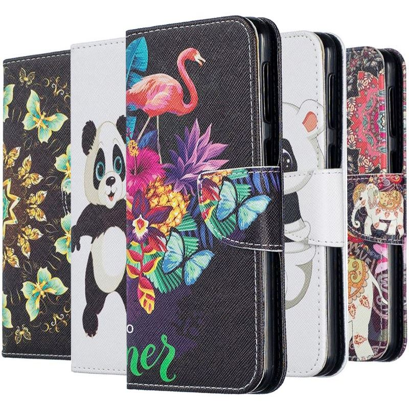 Luxury Wallet <font><b>Flip</b></font> Phone <font><b>Cases</b></font> For <font><b>Samsung</b></font> <font><b>Galaxy</b></font> Note 9 8 S10E S10 S9 S8 A6 A7 <font><b>A8</b></font> j4 j6 Plus j2Pro <font><b>2018</b></font> Cute <font><b>Flip</b></font> Cover DP07Z image