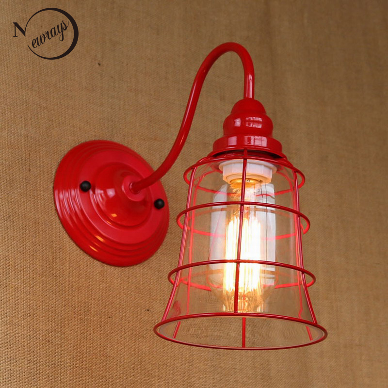 Replica designer fashional style mini red colour glass shade Wall Light lamp Sconce Lamp porch light fixturesReplica designer fashional style mini red colour glass shade Wall Light lamp Sconce Lamp porch light fixtures