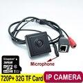 720 P Аудио Мини Ip-камера Главная Безопасность Ip-камера Cam Крытый безопасности CCTV IP Камера 3.7 мм Объектив + 32 Г TF карта камеры ip