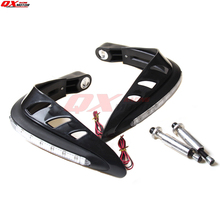 Universal LED Handguard Motorcycle Hand Guards LED for dual road Motorcross Dirt Bike ATV Scooter handguards Free shipping