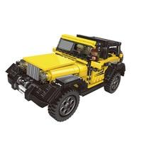 XB 03024 512pcs yellow super jeep Set Building Blocks Bricks Educational Toys Model children gift