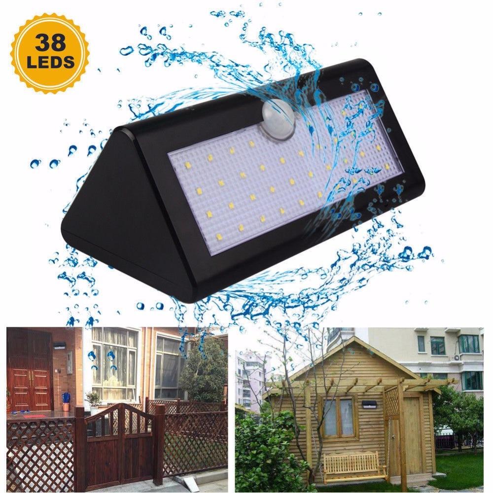 8/12/20/38 LED Solar Light Motion Sensor Waterproof Wireless Solar Power Lamp Garden Wall Yard Deck Bright Security Night Lights