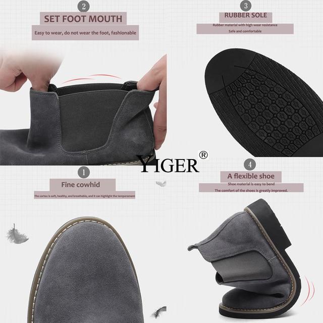Ankle Boots Fashion Men's Shoes 1