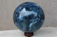 (6500g) bleu éperlan quartz cristal sculpture écritures balle