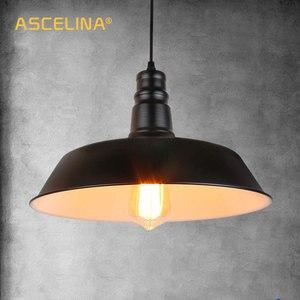 Image 2 - ASCELINA amerikan Loft kolye ışıkları tek kafa restoran bar aydınlatma renkli kolye lamba Metal ev aydınlatma Luminarias