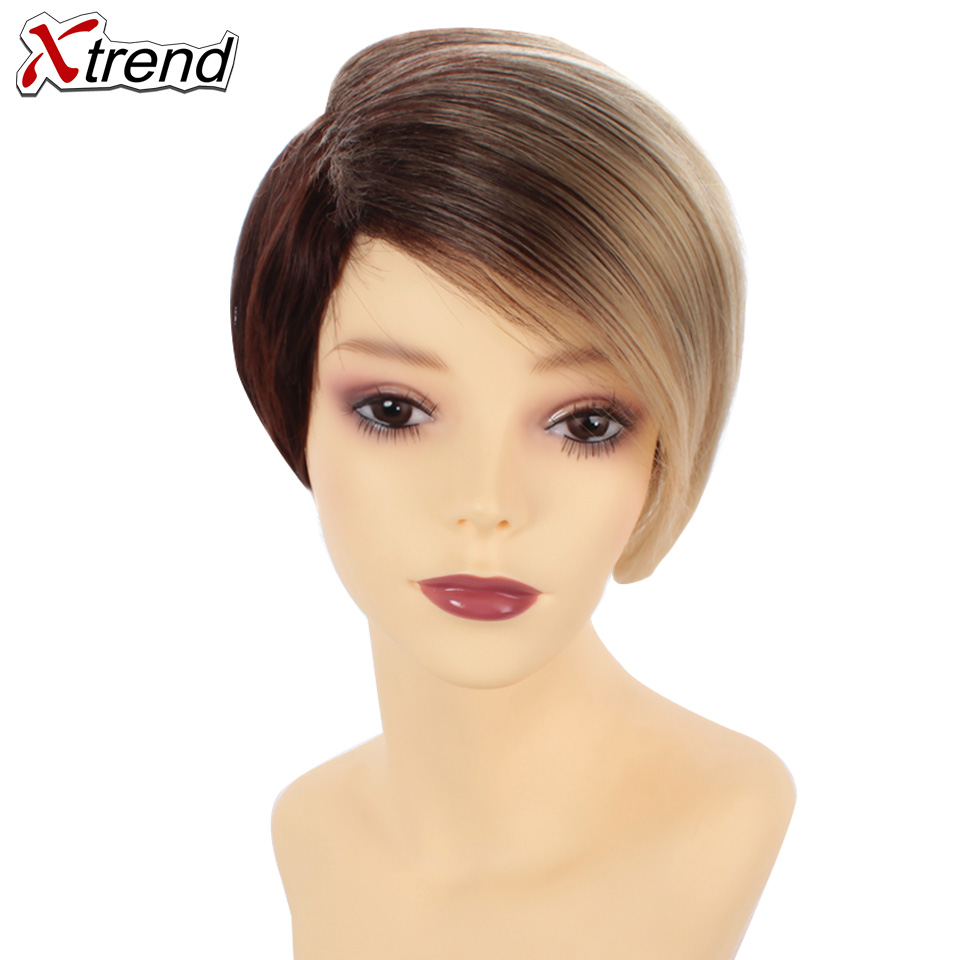 Hot Sale Xtrend 6inch 110g Synthetic Short Straight Hair Wigs For