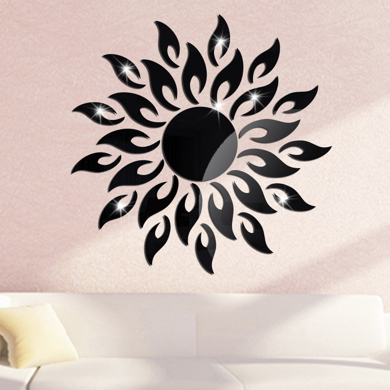 Us 3 28 10 Off Hot Fashion Acrylic Mirror Diy Home Wall Art Stickers Dining Room Bedroom Freezer Cute Lovely Decoration Ornament In