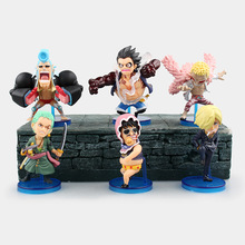 8cm 6pcs/LOT Japanese anime figure Q version One piece Gear fourth Monkey D Luffy action figure set collectible model toys
