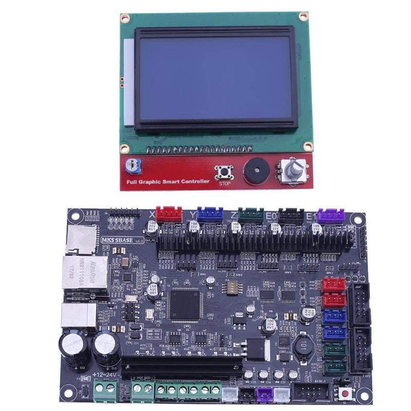 3D Printer Motherboard MCU-LPC 1768 MKS SBASE V1.3 32bit with 12864 LCD Display Screen Module for 3D Printer Parts & Accessories