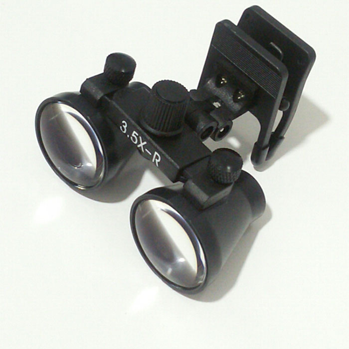 3.5x Glasses Clip Dental Loupes Binocular Surgical Loupe Lab Medical Magnifier WD 260-380MM Medical Magnifying Glass