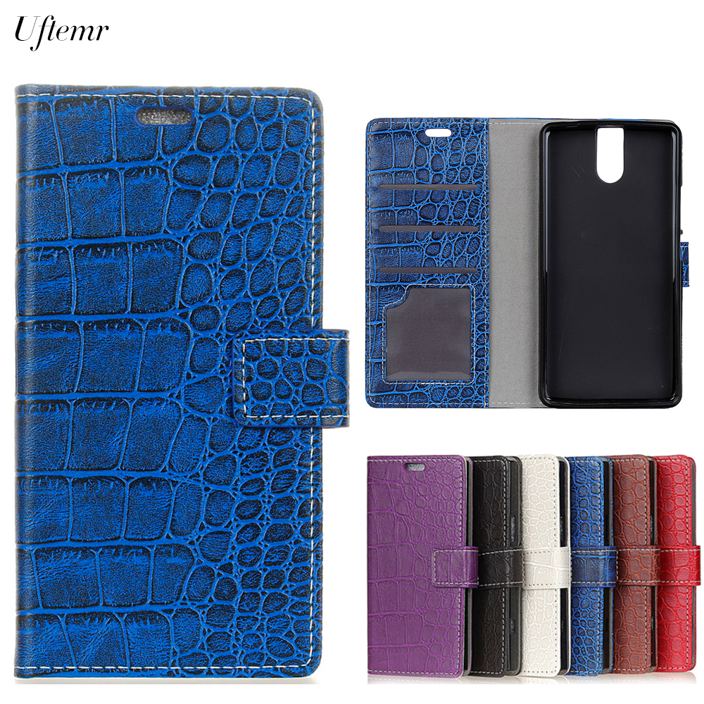 Uftemr Vintage Crocodile PU Leather Cover For Doogee BL7000 Protective Silicone Case Wallet Card Slot Phone Acessories