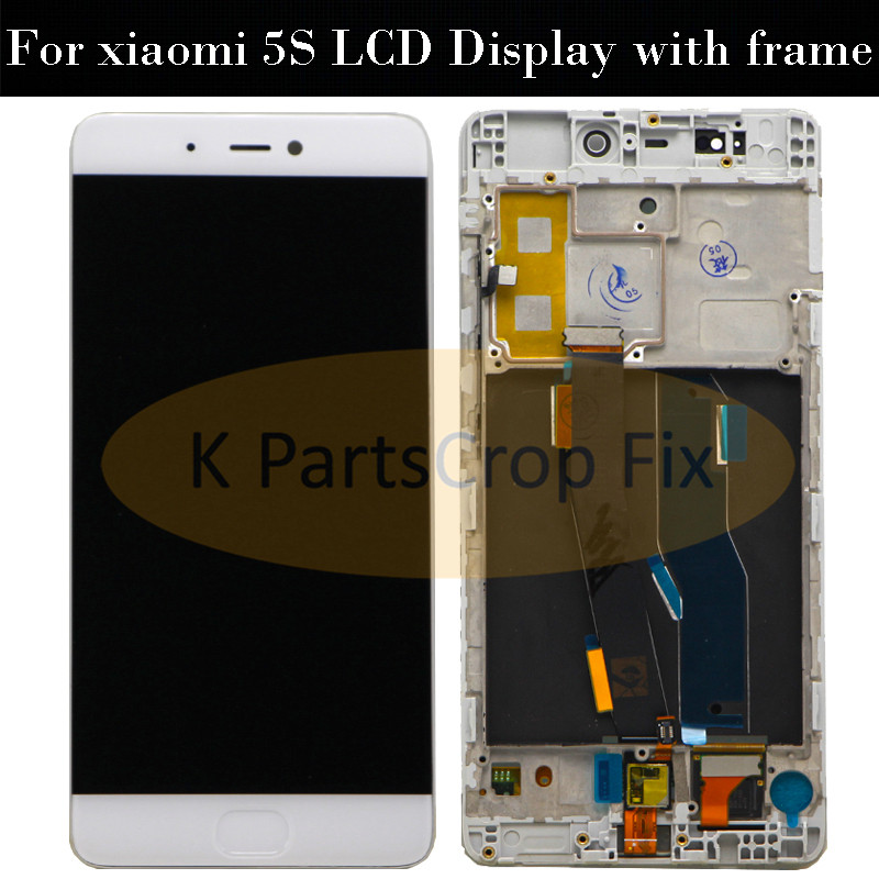 Xiaomi Mi5S LCD Display+Touch Screen Digitizer for Xiaomi Mi5S Mi 5S 5.15 inch with FingerPrint Scanner finger print flex cable