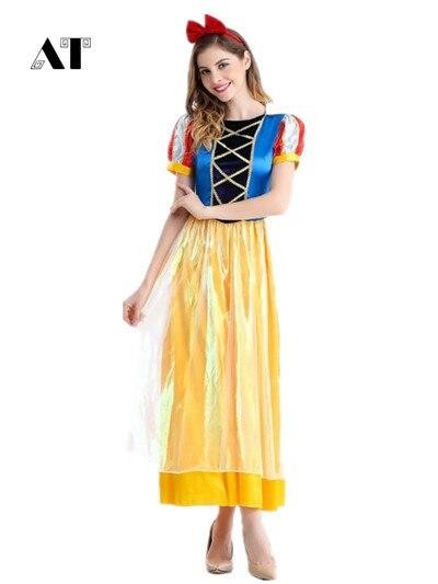 snow white costume  Adult Halloween costumes Princess snow white cosplay costume  snow white dress