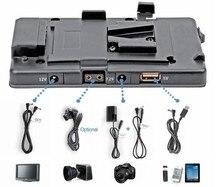 Wondlan ccmb de livraison gratuite 5DII V montage V verrouillage pour BP caméra batterie adaptateur pincement alimentation système 5D mark II / 7D DSLR