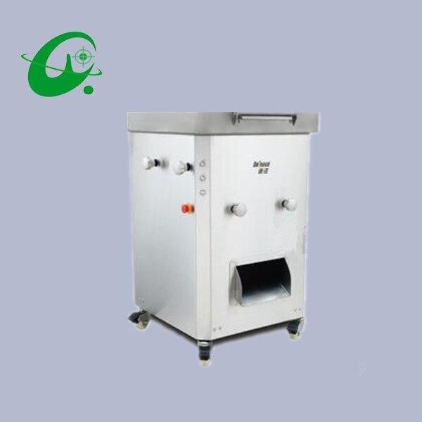 800 KG/H cortador de carne comercial de acero inoxidable máquina de corte vertical grande rebanadora de carne trituradora de dados con rodillo