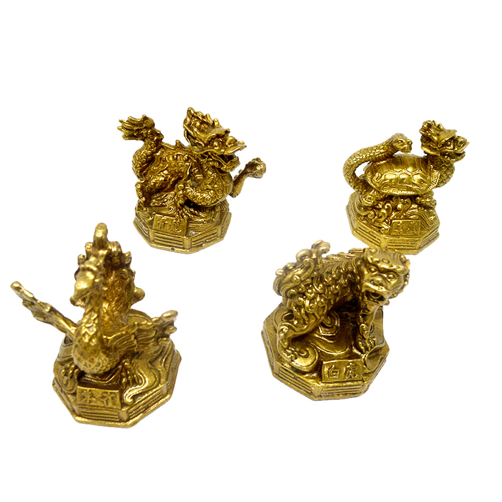 Feng Shui Four Celestial Animals Dragon Phoenix Turtle Tiger Statue W3384