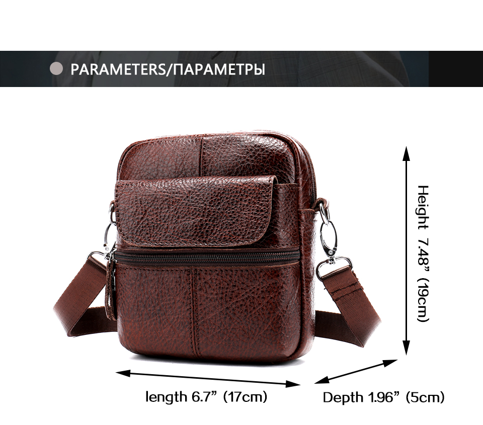 5 bag male genuine leather