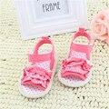 Sapatos da princesa Do Bebê Meninas Verão Rendas Infantil Crib Primeira Walkers Suave Sole Não-deslizamento Sapatos LL6