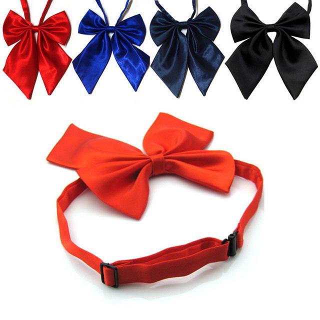 Women Tie Red Butterfly Women's Bow Tie Black Knot Female Girl Student Hotel Clerk Waitress Neck Wear Ribbon Ties green