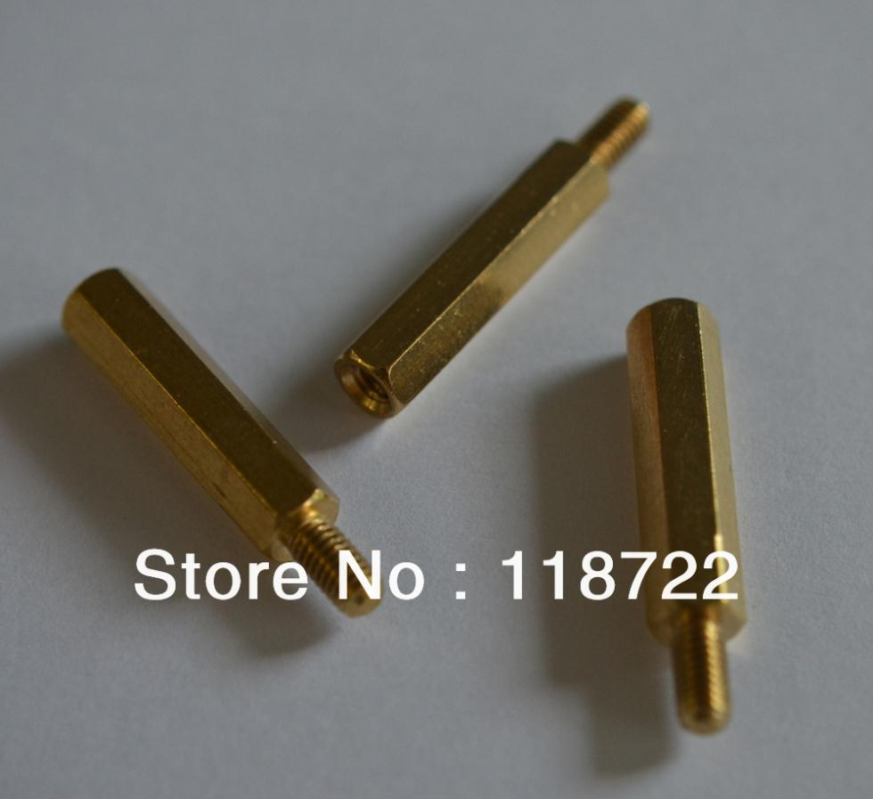 100pcs/lot 6 +20 copper pillar Essential copper M3 pillars / 30 mm / M3 / circuit board mounting column electronic component