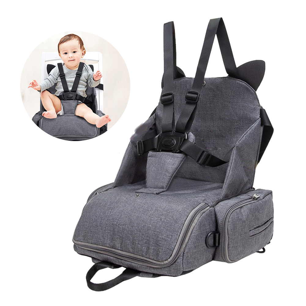 2 in 1 Baby Dining Chair Seat Multifunctional Mommy Bag Feeding Highchair Portable Baby Eating Chair Safety Baby Chair Carrier chair