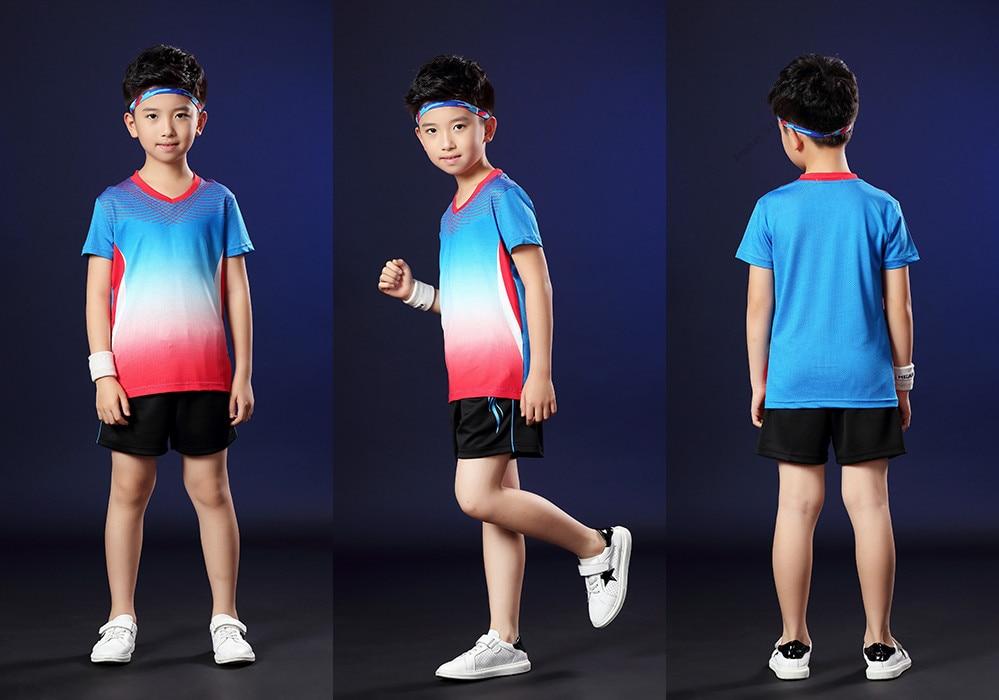 Camisa de tênis de mesa shorts +