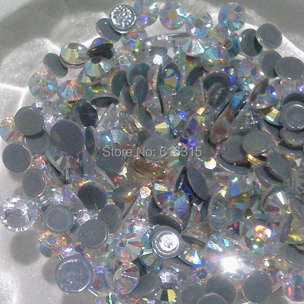 Korea rhinestone  300 gross SS10 hot fix rhinestone crystal AB for belly dance clothes by China post air mail free shipping