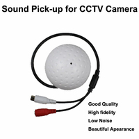Good Quality High Fidelity Low Noise Chip Camera Sound Pick Up Round Mic Microphone Speaker Monitor